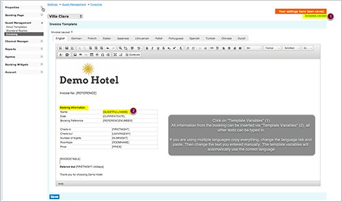 Customise Invoice Template Beds24 Wiki